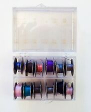 ~VINTAGE~12 METAL ONE HOLE BOBBINS WITH CASE~