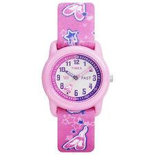 Timex T7B151, Kid's Pink Ballet Printed Fabric Strap Analog Watch, T7B1519J
