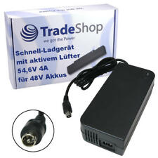 Trade-Shop 54,6V 4A 1pin Ladegerät Netzteil Lader für E-Bike Pedelecs 48V Akkus
