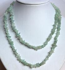 Natural Aguamarina Collar de piedras preciosas 90cm de largo cadena de minerales