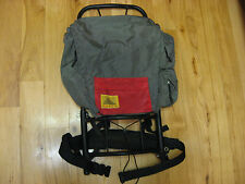 Vintage KELTY day back pack with Frame, Olive Green with Red front pocket