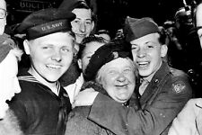 New 5x7 World War II Photo: Allies Celebrating German Surrender, England