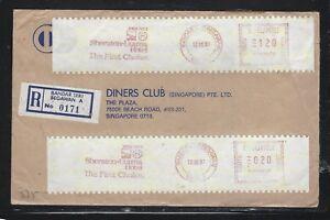 BRUNEI PPC  (PP0706B)  1987 METER 1.2+20S  BANDAR SERI BEGAWAN TO SINGAPORE