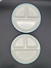 "Hearth & Hand With Magnolia Divided Plate Porcelan Enamelware 9""  x 2 NEW"