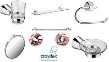 Croydex Flexi-Fix Bathroom-Accessories Towel Rail/Roll Holder/Tumbler/Mirror New
