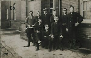 WW1 soldier Group Kitchener's Army recruits in civvies / Kitchener's Blues