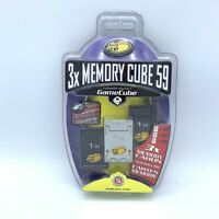 BRAND NEW SEALED 3 Pack Mad Catz Memory Cube 59 Cards Nintendo GameCube Wii 1x