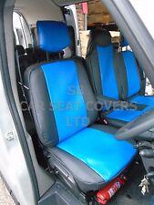 TO FIT A RENAULT MASTER VAN, SEAT COVERS, 2010 ONWARDSFLAT BED, N1 BLUE / BLACK