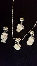 Hello Kitty 4 pc Charm Necklace set veryDainty &  Detailed Necklace set