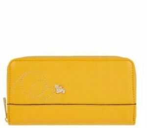 Monsoon Accessorize Bees Knees Zip Round Wallet Purse Yellow Bnwt