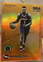 "2019-20 NBA Hoops Premium Stock ZION WILLIAMSON SSP ORANGE PRIZM ""Arriving"" RARE"