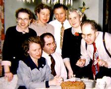 Vintage 35mm photo slide Birthday party 1955