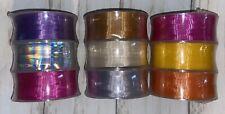 New 3 Spools Of Hallmark 3 Curling Color Ribbon