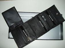 NIB Pierre Cardin Genuine Italian Leather Mens Bifold/trifold Black/Brown Wallet