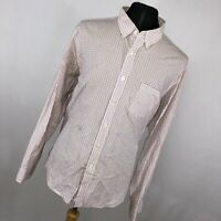 J Crew XL Shirt Button Down Front White Red Blue Checkered Mens Long Sleeve J8