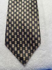 RAPHAEL BLACK GOLD ACCENTS MENS TIE 59 X 3.75