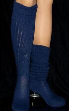 Navy Long Slouch Knee Scrunchie Socks Hooters Girl Uniform Sports School
