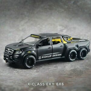 1:28 Mercedes-Benz EXY 6X6 Pickup Metal SimulationToy Gift Kids Alloy Car Modle