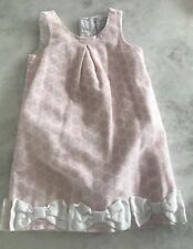 Tahari Kids Pink Dress With White Bows Size 5T Easter Egg Hunt