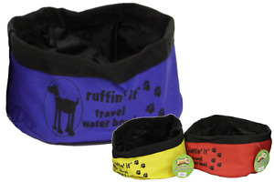 Portable Fold Away Up Pet Dog Cat Travel Water Drinking Bowl Red Yellow Blue