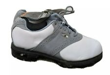 New Balance Wg1275Pr Golf Shoes Lace-Up White/Gray Oxford Women Size 5.5 Us