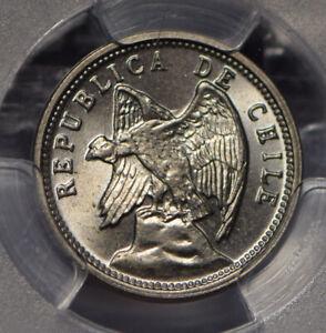 Chile 1928 5 Centavos Andean Condor animal PCGS MS66 rare this grade PC0740 comb
