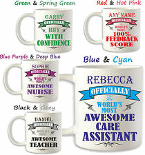 Birthday Gift Idea CARE ASSISTANT Carer Nurse Personalised Mug Brother HCA