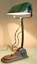 "French Art Deco Niam Bauhaus Bankers Enamel Desk Lamp 14"" (36cm) Tall"