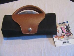 Versatile JoAnn Marie Designs Expandable Black Fold-up Mini Travel Bag  NWT