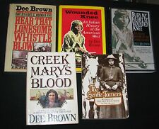 DEE BROWN~ Wounded Knee, Women of Old West, Railroads in West, Indian History