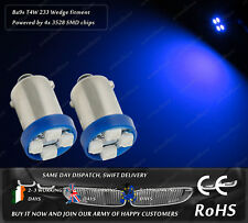LED SMD Ba9s T4W 9mm Bayonet Blue Interior Dome Lights Parking Bulbs Sidelights