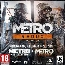 Metro Redux Bundle Steam Key code Worldwide Metro:☑2033 Redux ☑ Last Light Redux