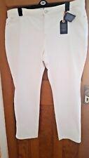 New Monsoon Blue 73 White Denim Straight Leg Stretch Jeans Size 22 Regular
