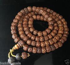 10mm Natural Tibetan Vintage Rudraksha Bodhi Seeds Prayer Beads Buddha Medita