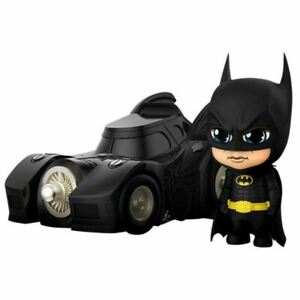 Hot Toys DC Cosbaby Batman with Batmobile figure Collectible Set COSB710