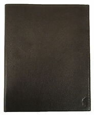 NWT $98 Polo Ralph Lauren Brown Pebbled Leather Pony Logo iPad Cover NEW