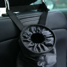 Black Car Seat Back Litter Trash Bin Garbage Hang Bag Holder Container Storage