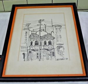 Jack Byars Original framed Mid-Century Sketch Drawing circa 1965,  #2- Listed