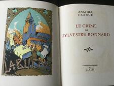 Livre de Collection Prix Nobel Littérature 1921  ANATOLE FRANCE LE CRIME DE S.B