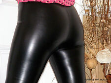 NEW BLACK SHINE LEATHER/ RUBBER APPEARENCE  PVC LEGGINGS SIZE XL