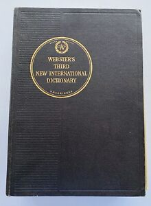 Webster's Third New International Dictionary Unabridged 1967