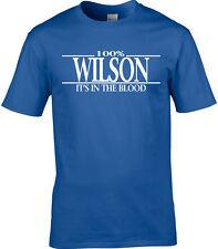 Wilson Apellido Camiseta Hombre 100% Wilson Regalo Nombre Familia