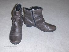 Remonte Dorndorf brown leather ankle boots with side zipper  S 39 - 8.5M