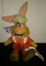 "Disney Store Mini Bean Bag Plush March Hare 8""  Alice in Wonderland New With Tag"