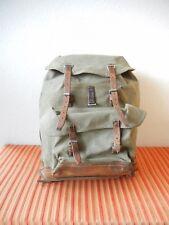 Rar Vintage Swiss Army Military Backpack Rucksack 1967 CH Canvas Salt & Pepper