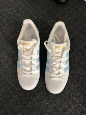 adidas superstar size 6.5 Womens White And Blue Trainers