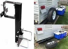 "RV Tire Carrier For 4"" or 4.5"" Bumper on Travel Trailer New Free Shipping USA"