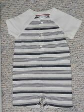 """NWT - Gymboree """"First Play Date"""" grey & ivory shorts romper - 3-6 mos boys"""