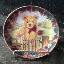 Franklin Mint Plate, Teddy's First Harvest by S. Bengry, ( Holder Not Included)