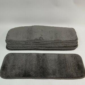 Antep Rugs Safe Steps Stair Treads. Set of 7 Gray Carpet. Non slip bottom